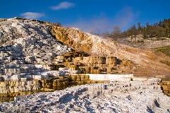 Yellowstone, Mammoet hete de lentesTerrassen royalty-vrije stock afbeeldingen