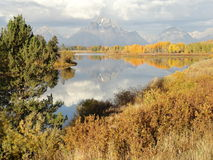 Grand Tetons Lake Reflection Royalty Free Stock Photos