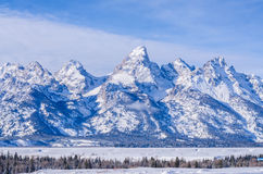 Yellowstone mountain with snow time. Background Royalty Free Stock Image