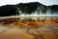 Yellowstone National Park geyser 1 royalty free stock photography