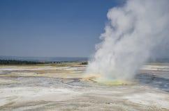 Yellowstone Nationaal Park geiser Royalty-vrije Stock Fotografie