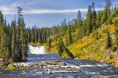 Yellowstone National Park. Yellowstone River Falls in Yellowstone National Park, Wyoming stock photo