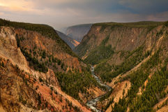 Yellowstone National Park. Grand Canyon of the Yellowstone in Yellowstone National Park, Wyoming Stock Photography