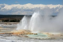 Yellowstone National Park. Geysers in Yellowstone National Park, USA Royalty Free Stock Photography
