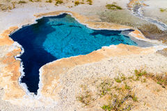Yellowstone National Park, Blue Star Spring in Upper Geyser Basin Stock Photo