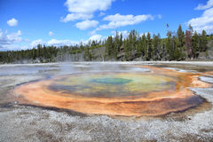 Yellowstone national Park 9. Chromatic and Beauty Pools ,the Upper Geyser Basin trail on Yellowstone National Park Stock Images