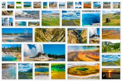 Yellowstone National Park collage Royalty Free Stock Image