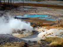 Geysers Hot Springs Yellowstone National Park Wyoming Royalty Free Stock Photos