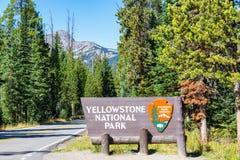 Yellowstone National Park Entrance stock image