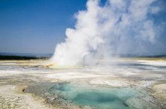 Yellowstone National Park geiser Stock Images