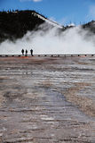 Yellowstone national Park 7. Grand Prismatic Spring boardwalk on Yellowstone National Park Stock Photo