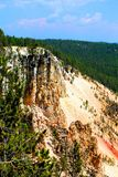 Yellowstone National Park Landscape Mountains and woodlands beautiful cliffs. Yellowstone National Park landscape mountains woodlands and beautiful blue sky and stock photos