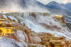 Yellowstone National Park. Mammoth Hot Springs, Yellowstone National Park stock photos