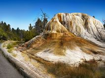 Yellowstone National Park, Mountains, water. Mammoth Hot Springs, Yellowstone National Park, USA stock image
