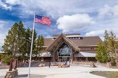 Yellowstone National Park Old Faithful visitor center stock photo