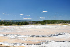 Yellowstone National Park. One of Yellowstone's colorful hot springs Royalty Free Stock Photos