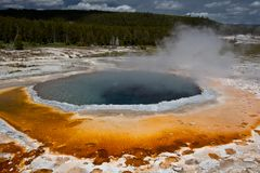 Yellowstone national park scenery royalty free stock images
