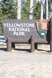 Yellowstone National Park Sign Stock Photography