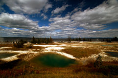 Yellowstone National Park Sulphuric Pond Royalty Free Stock Image