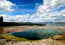 Yellowstone National Park Sulphuric Pond 2 Stock Images