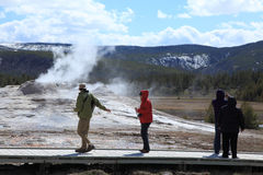 Yellowstone national Park 10. The Upper Geyser Basin trail on Yellowstone National Park royalty free stock images