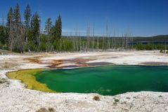 Yellowstone National Park, USA. Abyss pool in West Thumb Geyser Basin, Yellowstone National Park,Wyoming , USA Royalty Free Stock Photo