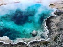 Yellowstone national park in Utah. Hot spot hot spring Yellowstone amazing beautiful great nature colorful Stock Photo