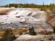 Yellowstone National Park, Volcano Geysers Hot Springs Stock Photo