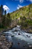 Yellowstone National Park Waterfall Stock Photo