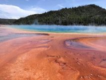 The Grand Prismatic Springs of Yellowstone National Park Royalty Free Stock Images
