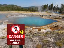 Yellowstone National Park, Wyoming, United States. Geysers and hot springs in Yellowstone National Park, Wyoming. United States stock image