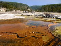 Yellowstone National Park, Wyoming, United States. Hot springs pool. Yellowstone National Park, Wyoming. United States royalty free stock photos