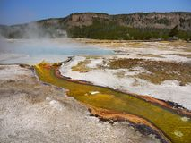 Yellowstone National Park, Wyoming, United States. Hot springs pool. Yellowstone National Park, Wyoming. United States stock photos
