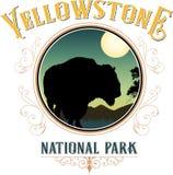 Yellowstone nationalpark Vektor Illustrationer