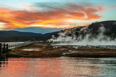 Yellowstone nationalpark royaltyfri foto