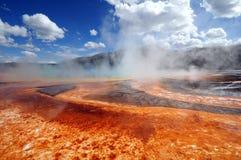 Yellowstone Nationalpark Dampf-Entlüftungen Stockfotos