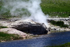 Yellowstone Nationalpark Geysire 29 Stockfotos