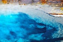 Yellowstone nationalpark: Termisk pöl Arkivfoto