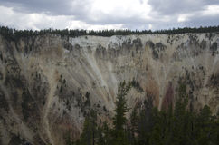 Yellowstone nationalparkkanjon Arkivfoto