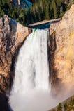 Yellowstone niscy spadki zdjęcie stock