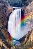 Yellowstone Niscy spadki Obraz Royalty Free