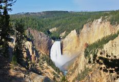 Yellowstone NP, le cadute più basse Immagine Stock Libera da Diritti