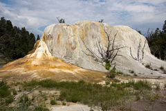 Yellowstone Orange Spring Mound Royalty Free Stock Image