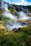 Yellowstone paint pots water boiling Royalty Free Stock Image