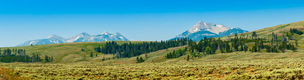 Yellowstone Panorama 2 Stock Images