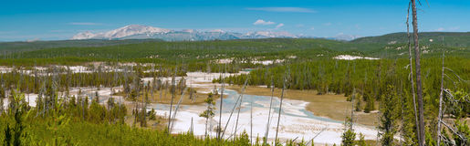 Yellowstone Panorama 4 Stock Image