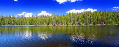 Yellowstone Panoramic Lake Landscape Royalty Free Stock Images