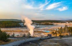 Yellowstone park narodowy, WY, usa obrazy royalty free