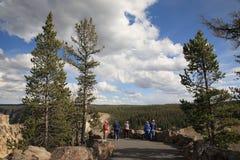 Yellowstone Park Tourists Royalty Free Stock Photos