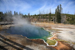 Yellowstone Park - West Thumb Geyser Basin Royalty Free Stock Photo